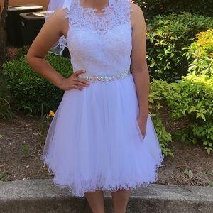 BRAND NEW White Formal Dress